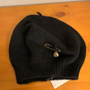 NWT Coach Knit Beret with Logo Pin